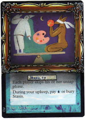 Stasis altered art magic the gathering mtg card art mtg altered cards mtg artwork MJAlters
