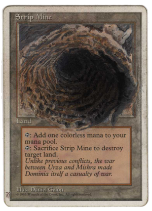 Strip Mine Magic the Gathering trading card game artwork MJAlters altered artwork Magic the Gathering tcg magic cards land vintage MTG deck